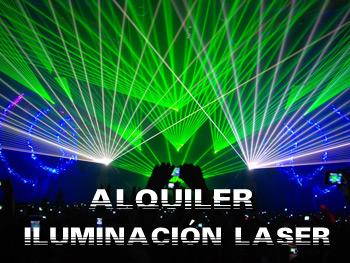 Alquiler de Iluminación láser para todo tipo de eventos
